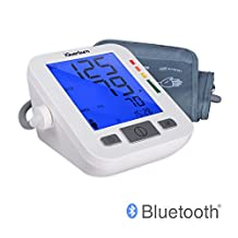 """iGuerburn 5"""" Talking Bluetooth Upper Arm Blood Pressure Monitor for Vision Impairment or Blind with Free APP + Extra Large LCD /Fully Automatic"""