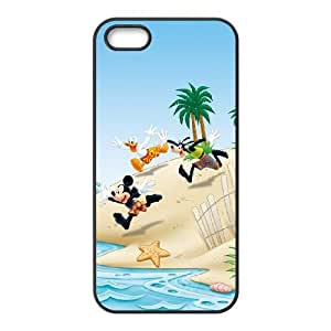 iPhone 4 4s Cell Phone Case Black Mickey Mouse and Donald Duck JSK822208