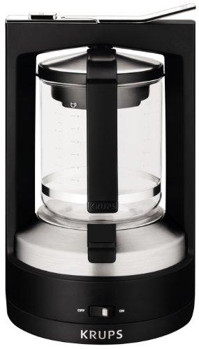 KRUPS KM4688 Moka Brewer Filter Coffee Maker, 10-Cup, Black