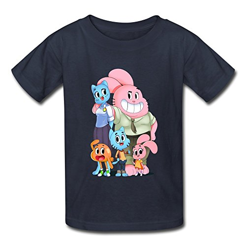Kid's Photo The Amazing World Of Gumball T-shirts Size L Navy By Mjensen (The Amazing World Of Gumball The Castle)