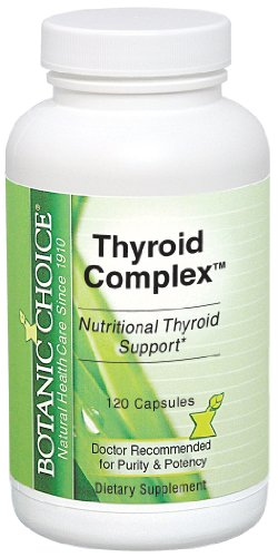 Botanic Choice thyroïde Capsules complexes, 120 Count
