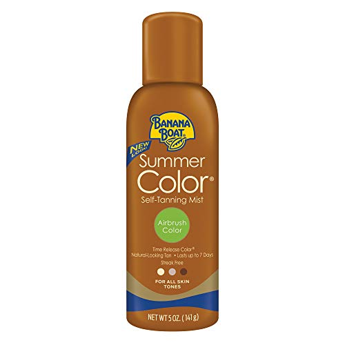 Banana Boat Self Tanning Sunless Spray for All Skin Tones, Airbrush Color,  Ounce, Pack of 3