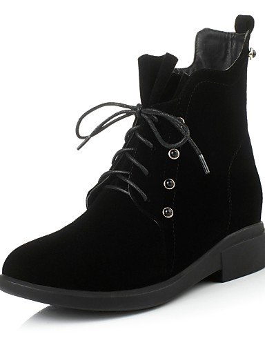 basso Xzz marrone da Vestito Scarpe 5 Black sintetica tacco Eu36 Tinta nero Uk3 di Cn35 Casual lana donna 5 Stivaletti us5 drrw0xqz5