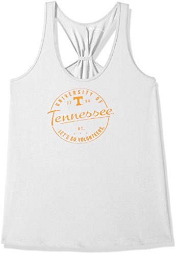 Vols Tennessee Drape - Champion NCAA Tennessee Volunteers Women's Eco Swing Tank, X-Small, White