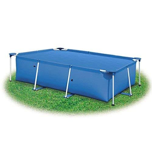 SKB Family Rectangular Pool Cover 102 x 63 inch PE Blue Solar Inground Blanket