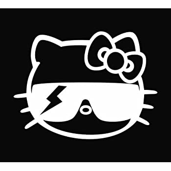 6c9911cb4b5cd Amazon.com  Lady Gaga Hello Kitty Vinyl Decal Sticker