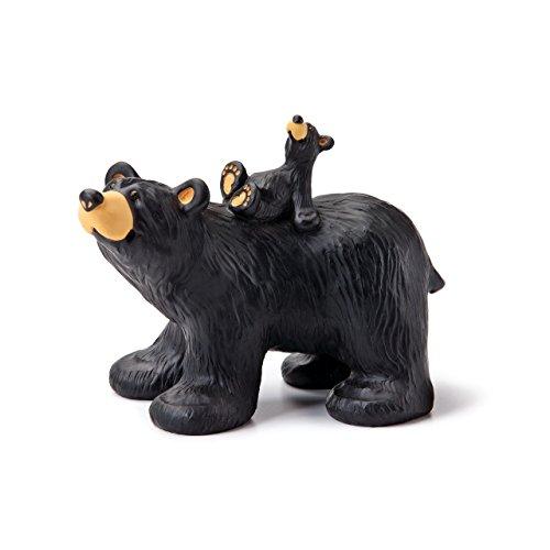 DEMDACO Riding Bearback Black Bear 5 x 6.5 Hand-cast Resin Figurine Sculpture -