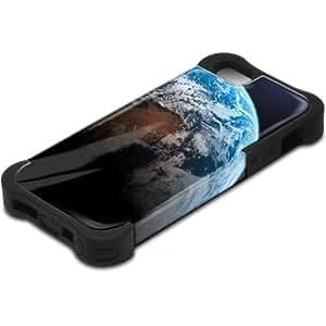 Espacio 10163, Design Negro Caso Carcasa Funda de Silicona Hybrid Armor Protección Case Cover con Diseño Colorido y Protector De Pantalla para Apple Iphone 5 5S.