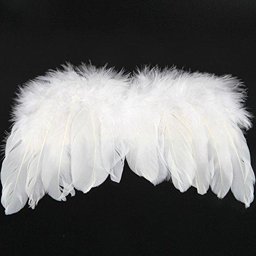 nacola ropa de bebé para fotografía recién nacido hecho a mano ángel alas de plumas fotografía traje prop foto conjunto,...