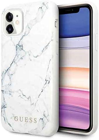 Guess Hülle Aus Der Marble Kollektion Für Das Iphone 11 Weiß Elektronik