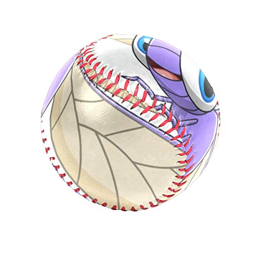 Cute Purple Dragonfly Personalized Low Impact Safety Tee Balls Indoor Baseball or Outdoor Baseballs for League Play, Practice, Competitions, Gifts, Keepsakes, Arts and Craftsophies, and Autograph ()