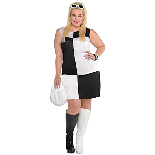 - Mod Girl Costume - Plus Size 2X - Dress Size 18-20