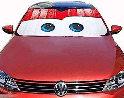 Red Blue Stars Wonder Woman Car Auto Sun Shade Windshield Light Heat Blocker