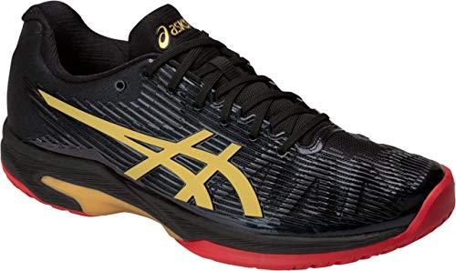 Tennis Boast Apparel - ASICS Solution Speed FF L.E. Men's Tennis Shoe, Black/Rich Gold, 7 M US