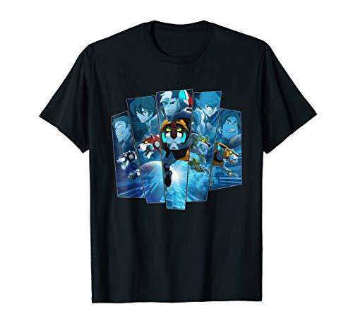 Voltron Legendary Defender 5 Lions in Blue Hue T-Shirt