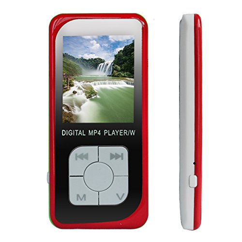 G.G.Martinsen 8GB Mini USB Port Portable Music MP3/MP4 , Music Player , MP4 Player, Video Player, Walkman MP3 , Digital Media Player, Audio Player, Photo Viewer, E-book Reader, Voice Recorder-Red