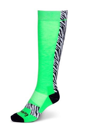 Intensity All Star Socks, Lime/Zebra (Bright Lime Zebra)