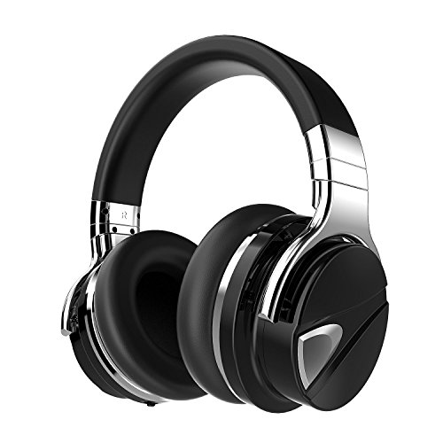 Dylan Active Noise Cancelling Wireless Bluetooth Over-ear Stereo Headphone with Mic,Extra Bass Travel Case Included,Black by Dylan