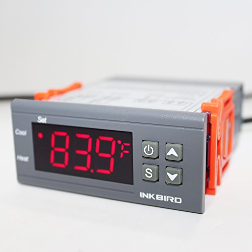 Inkbird Temp Control Thermostat ITC1000 Dual Stage Digital Temperature Switch Controller ℃ ℉ Display Heating Cooling Relay NTC Sensor 3D Printer Freezer Fridge Hatching 110 Volt