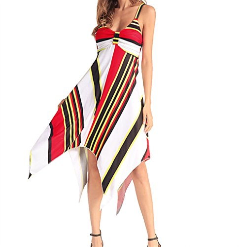 Profonde Imprim Manches Robe Sangle de sans Robe v Jupe Robe Irrgulire Sexy Mode Weekendy Red Enveloppe col qAzxXYE