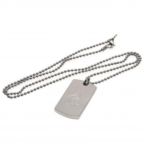 Rangers F.C. Engraved Crest Dog Tag & Chain