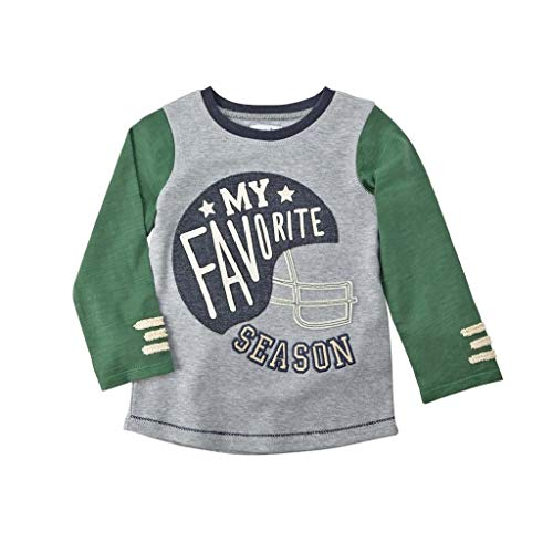Mud Pie Baby Toddler Football Long Sleeve T-shirt My Favorite Season (Large)