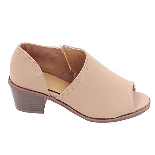 Lolittas Gladiator Ladies Leather Sandals, Summer Beach Mid Block Heel Wide Fit Open Peep Toe Slingback Court Shoes Size 2-10 Black Brown Khaki