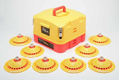 Total Flare Alkaline 8 LED Flares With Case Emergency Safety Lights by Total Flare
