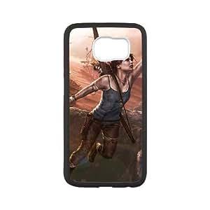 Samsung Galaxy S6 Cell Phone Case Black lara croft Custom FDFNFDKND2673