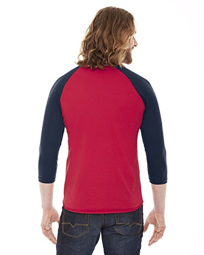 Apparel Bb453 Navy T raglan Red shirt manches 50 4 3 w American 50 Tq45xaTd