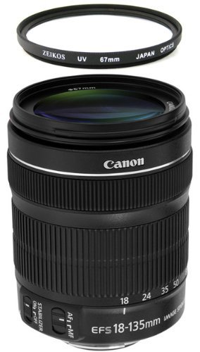 Canon EF-S 18-135mm f/3 5-5 6 IS STM Lens Brand New With 1-year Canon USA Warranty + 67mm UV Filter