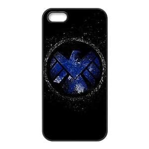 The Avengers Logo 001 funda iPhone 5 5S Negro de la cubierta del teléfono celular de la cubierta del caso funda EVAXLKNBC17051