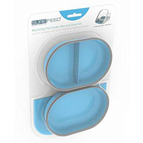 SureFlap SureFeed Microchip Pet Feeder Mat and Bowl Set, Blue