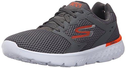 Skechers Performance Men's Go Run 400 Running Shoe, Charcoal/Orange, 11.5 M US