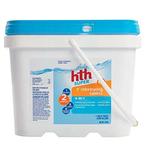 HTH Pool Sanitizer 3'' Chlorinating Tables 4-in-1 (42010)