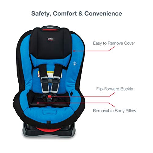 41m6WZcU8nL - Britax Allegiance 3 Stage Convertible Car Seat | 1 Layer Impact Protection - Rear & Forward Facing - 5 To 65 Pounds, Azul