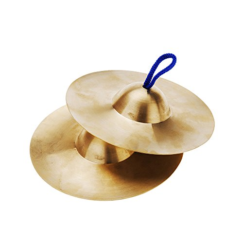 Percussion Instrument 15cm / 5.9in Mini Small Copper Hand Cymbals Gong Band Rhythm Musical Instrument Toy for Kids Children