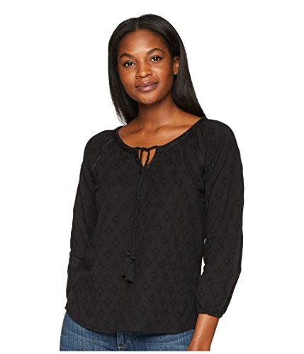 (prAna Verano Long Sleeve Tops, Black, Medium)