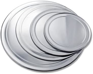 New Star Foodservice 50523 Aluminum Wide Rim Pizza Tray, 12 Pack of 12