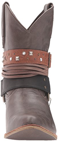 Women's Booties Leather Brown Dark Crush Durango Accessory Fashion dqwxTXdAB