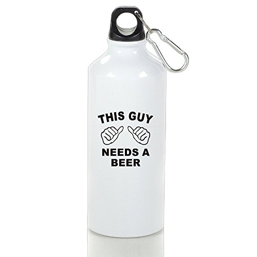 Cutadorns This Guy Needs A Beer Aluminum Vogue Sport Water Bottle 400ml (Bowle Halloween)