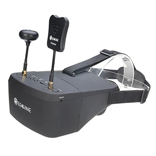 EACHINE EV800D FPV Goggles with DVR 5.8G 40CH 5 Inch 800x480 Diversity Video Headset Build in Battery by EACHINE