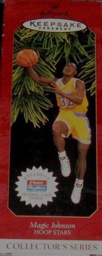 Nba Christmas Uniform - Hallmark Keepsake Ornament - Magic Johnson Hoop Stars Collector's Series 1997 (QXI6832)
