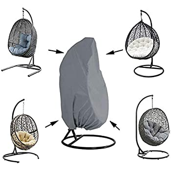 75x45 Black Durable Lightweight Waterproof Egg Swing Chair Cover with Zipper Fits Most Outdoor Single Swing Egg Chair Dust Protector Oslimea Patio Hanging Egg Chair Cover