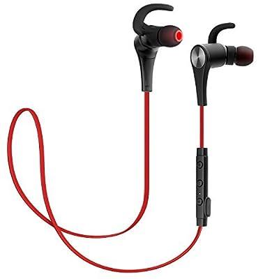 SoundPEATS Bluetooth Headphones Magnetic Wireless Earbuds Sport In-Ear Sweatproof Earphones with Mic (Bluetooth 4.1, aptx, 6 Hours Play Time, Secure Fit Design)