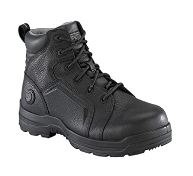 Image Unavailable. Image not available for. Color  Rockport Womens Black  Leather WP Work Boots ... efaa58f37