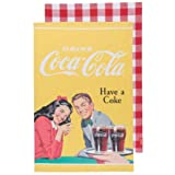 Now Designs Coca-Cola Have a Coke Dishtowel, Pause and Refresh, Set of 2