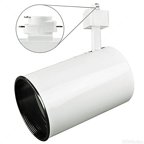 White - Flat Back Cylinder Track Fixture - MR16 GU10 ()