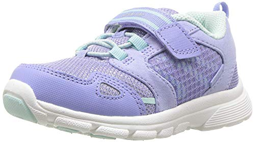 (Stride Rite Girls' Made 2 Play Taylor Sneaker, Purple/Aqua, 2.5 M US Little Kid)