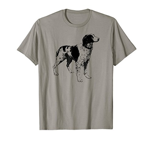 (Brittany Spaniel Dog T Shirt Love Dogs Mothers Fathers Day)